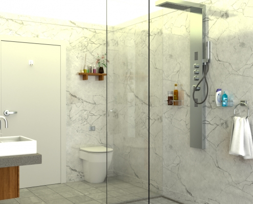 LODGE CONTAINER Bathroom (Shower) V2 - © ALL InCube