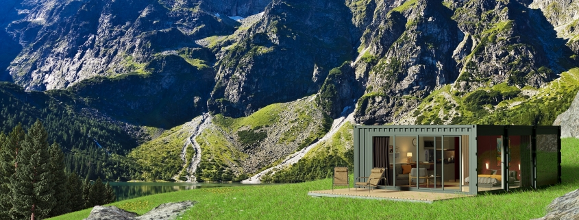 LODGE CONTAINER at the top of a mountain - © ALL InCube
