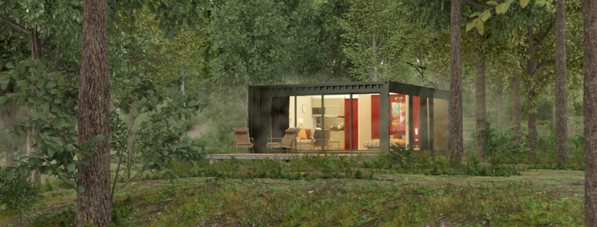 LODGE CONTAINER inside a forest - © ALL InCube