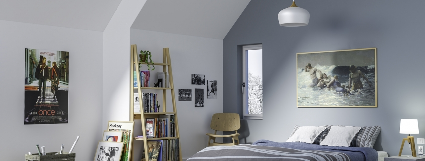 SCANDINAVIAN STYLE INFLUENCED BEDROOM