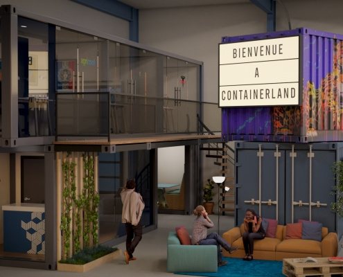 CONTAINERLAND, entrance (© containerland.fr)