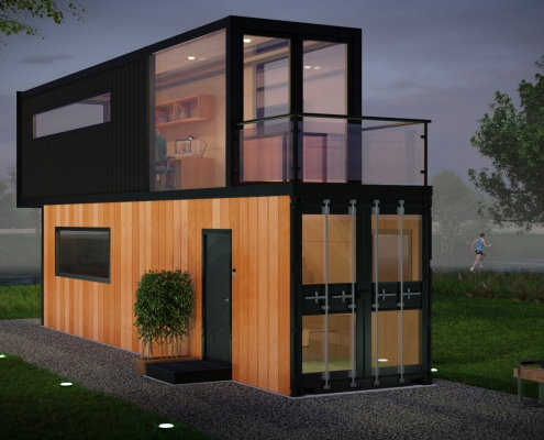 OFFICE CONTAINER, front view