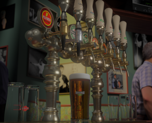 BEER TAP IN A PUB