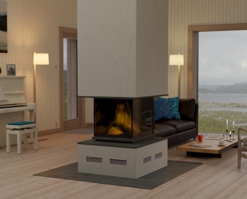 VEGA COTTAGE in NORWAY by Kolman Boye © - living room