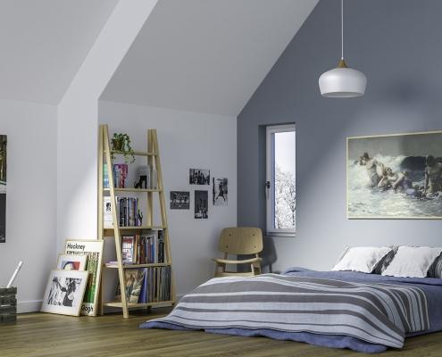 SCANDINAVIAN STYLE INFLUENCED BEDROOM